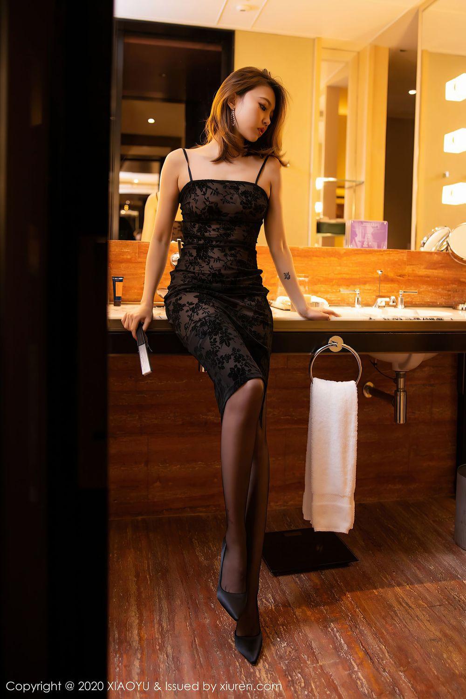 Vol.682 黑丝美腿吊裙浴室美女性感女神语画界-冯木木LRIS完整私房照合集