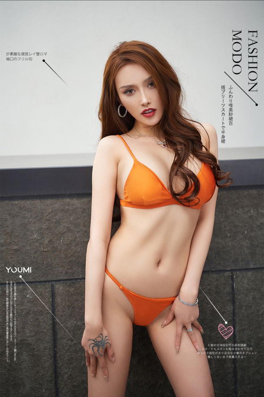 Vol.156 比基尼小蛮腰美胸内衣诱惑性感女神Youmi尤蜜-李承美完整私房照合集