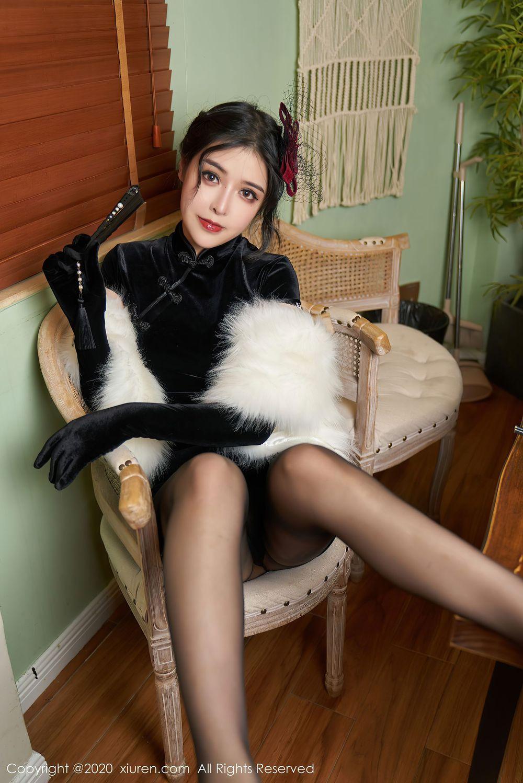Vol.495 黑丝美腿旗袍美女高跟鞋古典美女内衣诱惑美女模特秀人网-韩静安完整私房照合集