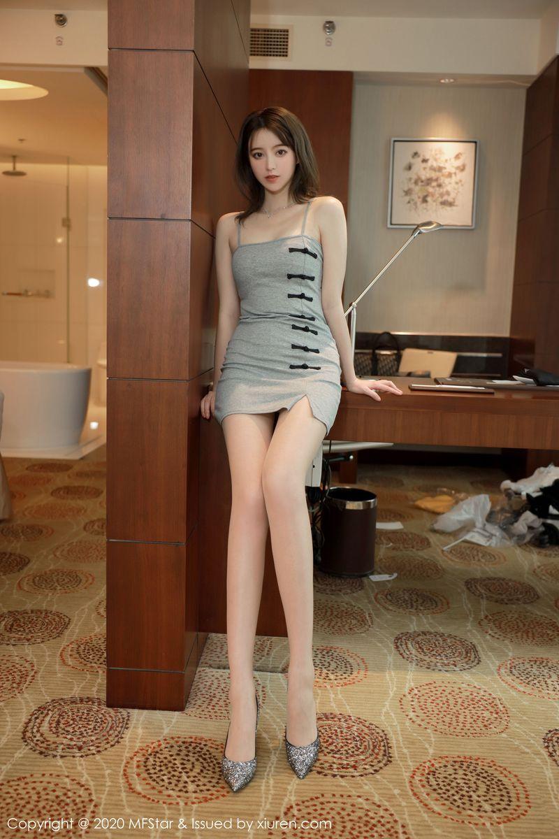 Vol.761 吊裙丝袜美腿高跟鞋翘臀少妇大尺度美女模特模范学院-yoo优优完整私房照合集