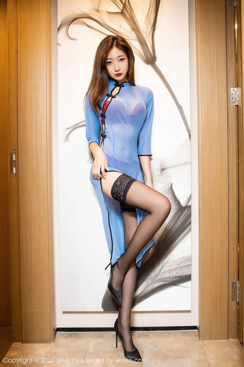 Vol.944 黑丝美腿旗袍美女情趣制服内衣诱惑透视装美女模特语画界-安琪Yee完整私房照合集